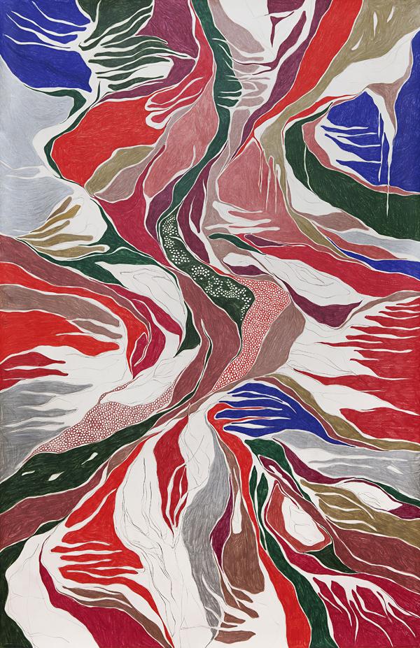 The Fall, 2011 grafite e lápis de cor sobre papel 150 x 100 cm foto: Renan Rêgo