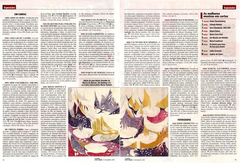 LOPES, Jonas. Marcia de Moraes, Diário de uma Ilusão, Revista Veja São Paulo