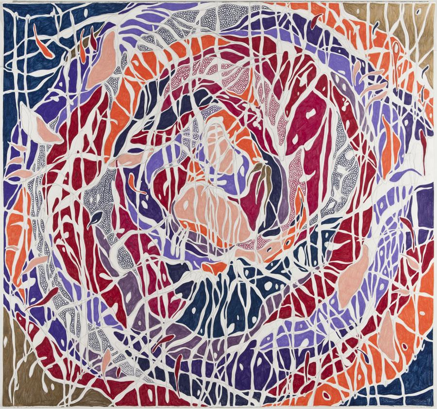 O Colapso, 2013 Grafite e lápis de cor sobre papel (Graphite and colored pencil on paper) 140 x 150 cm Foto (photo): Ding Musa