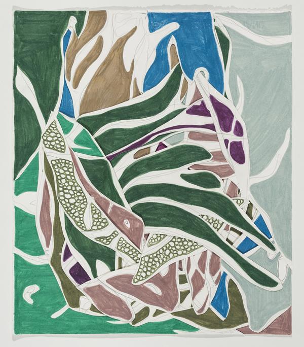 After Tarsila, 2014 50 x 42,5 cm Grafite e lápis de cor sobre papéis colados (Graphite and colored pencil on cut paper) Foto (photo): Ding Musa