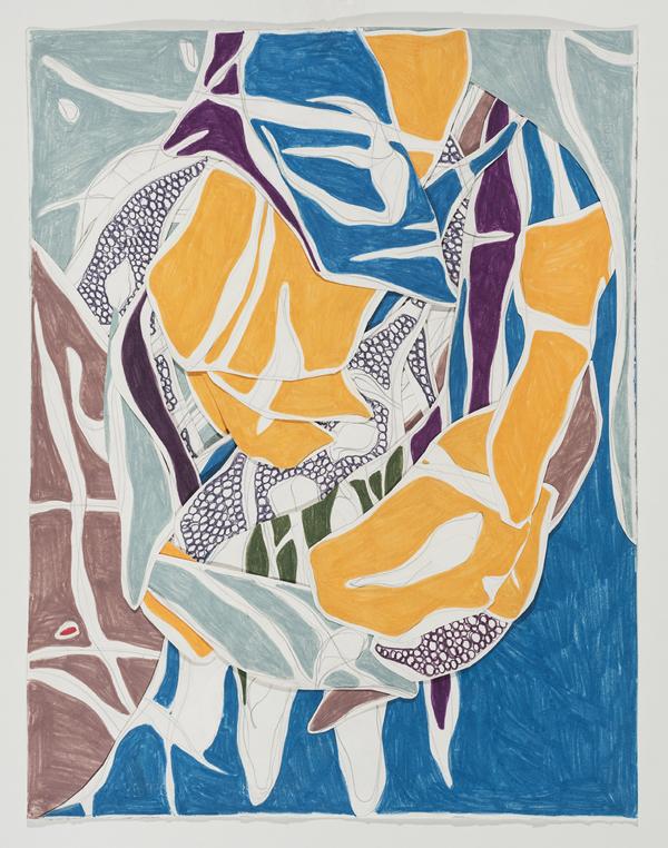 O Fólego, 2014 67 x 51 cm Grafite e lápis de cor sobre papéis colados (Graphite and colored pencil on cut paper) Foto (photo): Ding Musa