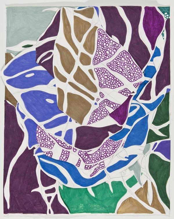 O Deleite, 2014 62 x 50 cm Grafite e lápis de cor sobre papéis colados (Graphite and colored pencil on cut paper) Foto (photo): Ding Musa