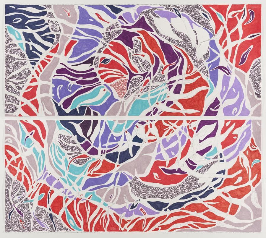 O Bicho, 2014 140 x 160 cm Grafite e lápis de cor sobre papel (Graphite and colored pencil on paper) Foto (photo): Ding Musa