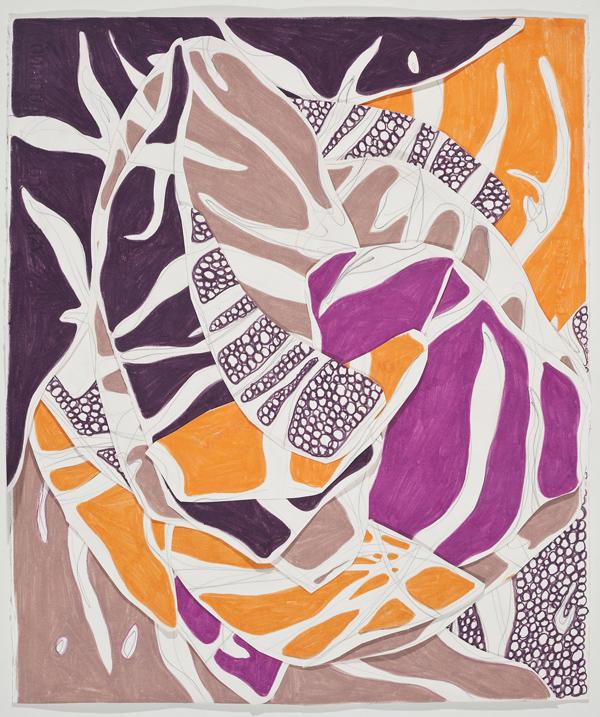 O Ensolarado, 2014 56 x 47 cm Grafite e lápis de cor sobre papéis colados (Graphite and colored pencil on cut paper) Foto (photo): Ding Musa