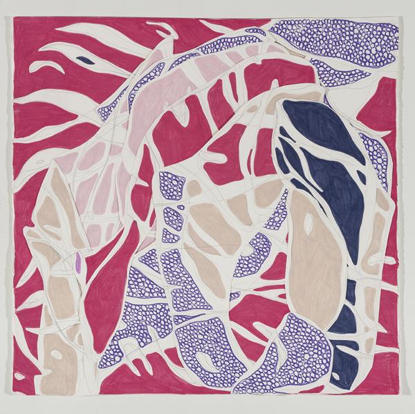 O Lábio, 2014 66 x 68 cm Grafite e lápis de cor sobre papéis colados (Graphite and colored pencil on cut paper) Foto (photo): Ding Musa